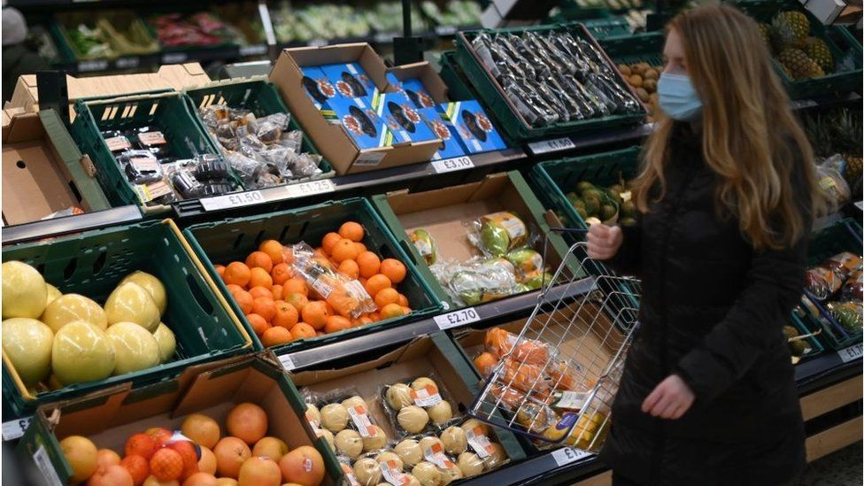 Fresh produce at a Tesco store
