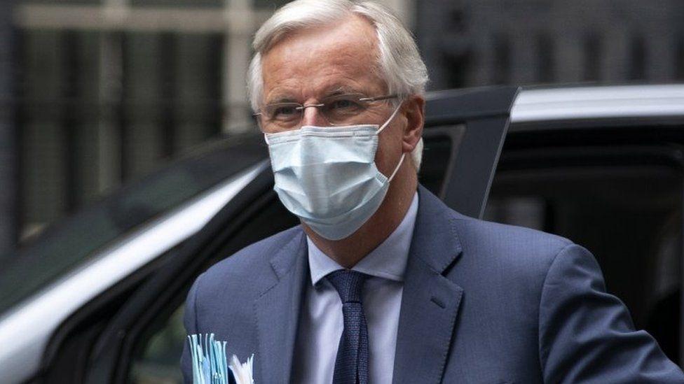 Michel Barnier in Downing Street