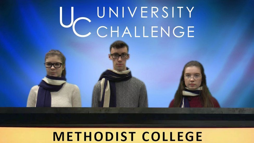 The pupils from Methodist College in Belfast recreated an episode of University Challenge