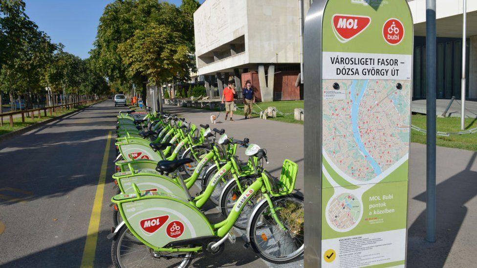 Picture of Budapest's Bubi bike sharing scheme