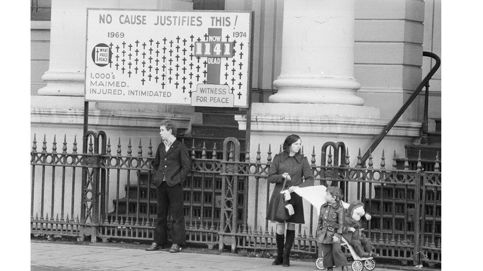 A peace campaign poster in Northern Ireland in 1974