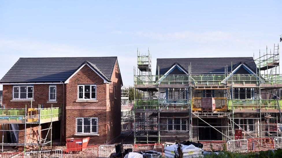 New homes are seen being built on November 07, 2020 in Congleton, Cheshire