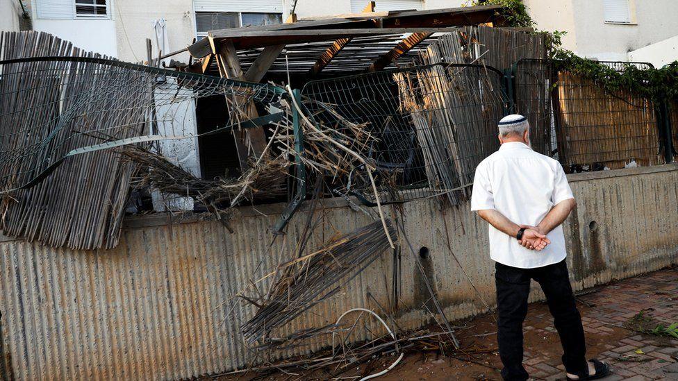 House in Sderot where rocket fell - 14 July