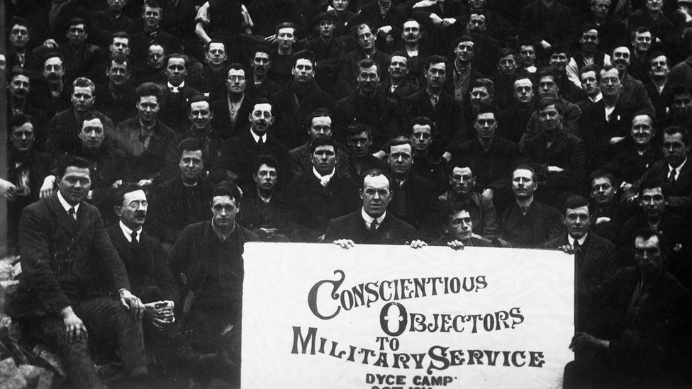 Conscientious objectors in the Dyce Camp