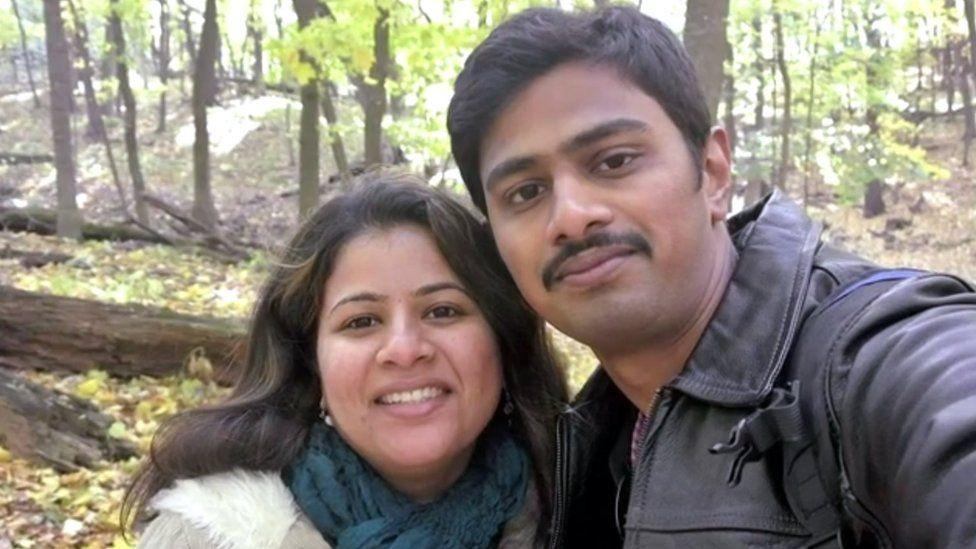Mr Kuchibhotla and his wife