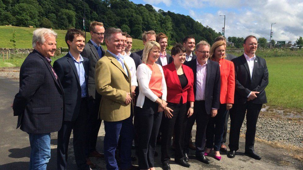 Ruth Davidson and MPs