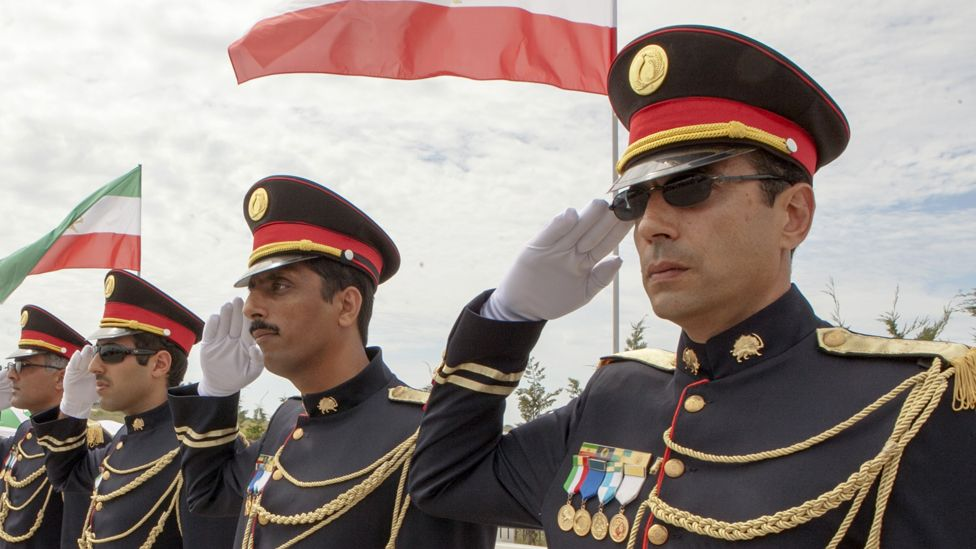 Members of the MEK at their new base in Albania