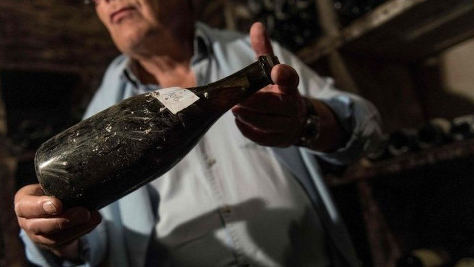 A Vin Jaune wine bottle from 1774 (file photo)