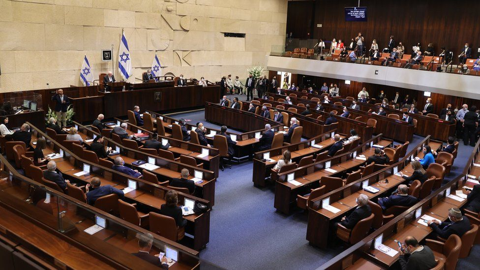 Swearing in ceremony of the Israeli 24th Israeli Knesset (parliament) in Jerusalem (6 April 2021)