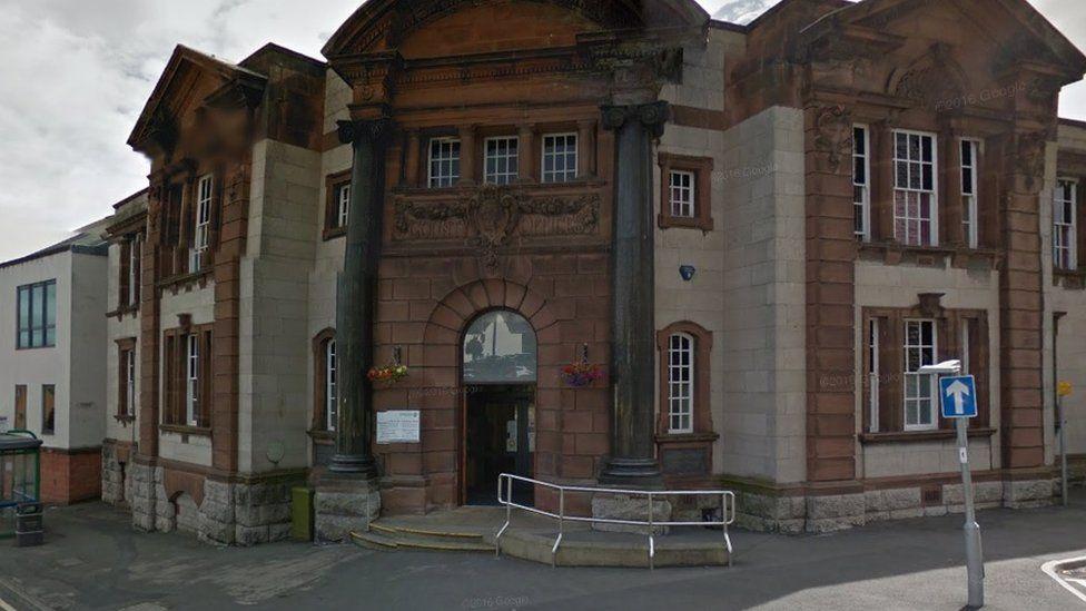 Coroner court at County Hall, ruthin