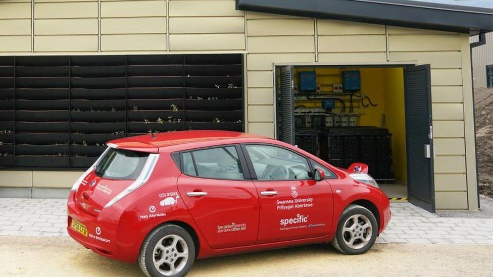 Car charging up at active classroom
