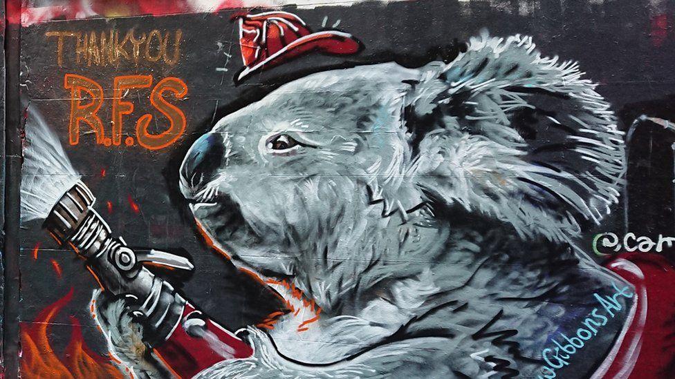 Australia mural