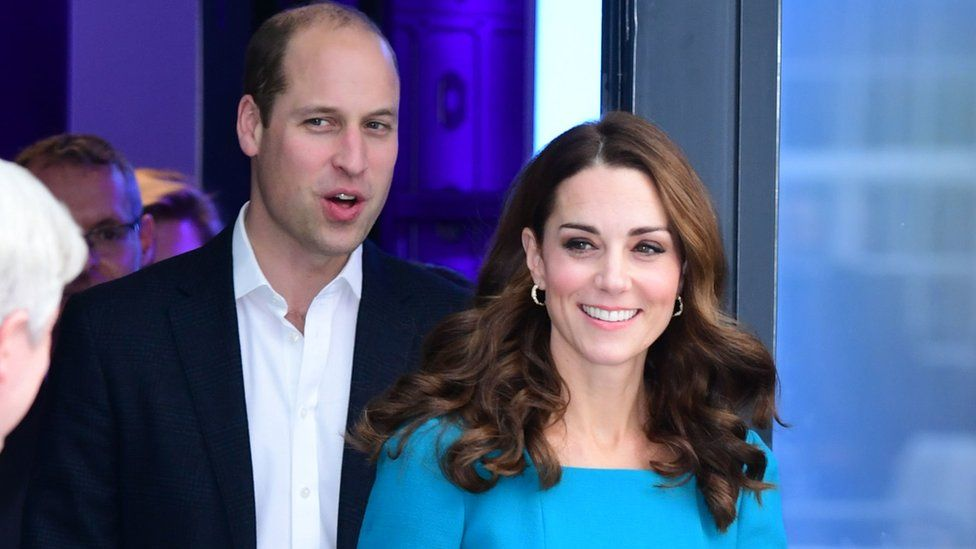 The Duke and Duchess of Cambridge leaving the BBC Broadcasting House