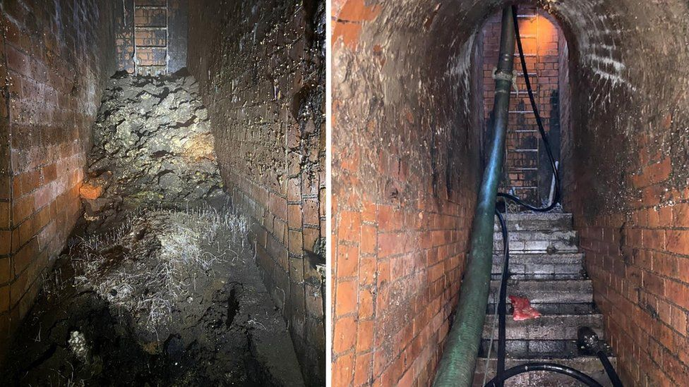 Fatberg before and after