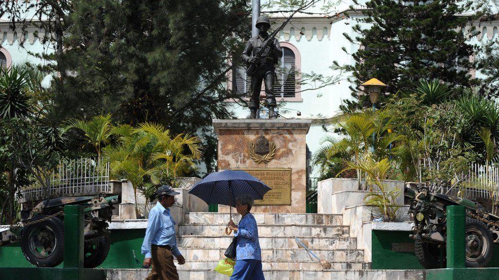 A memorial to the Football War in Honduras