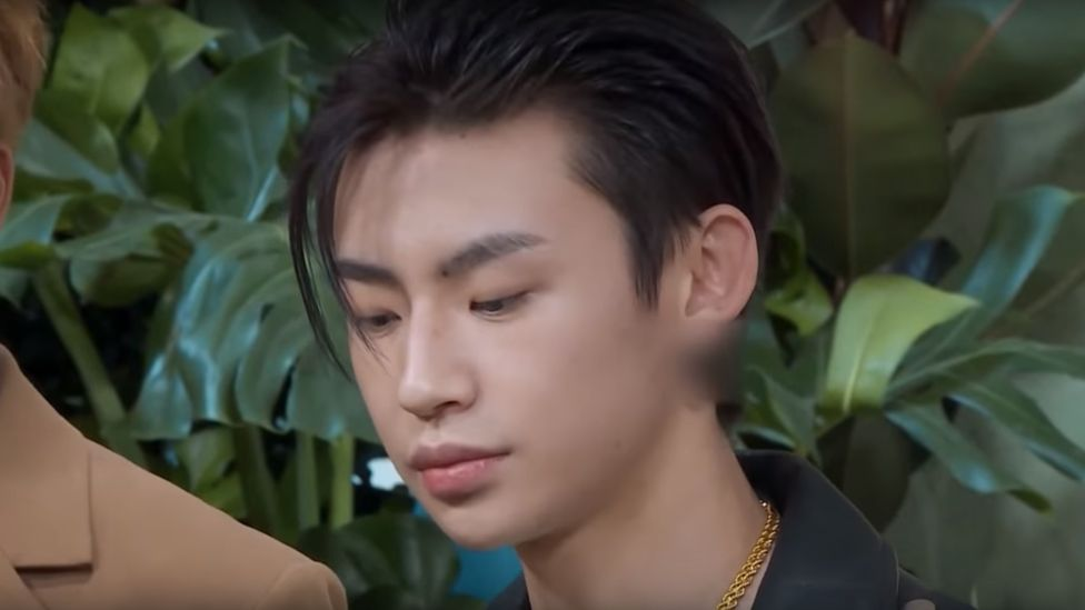 Photo of actor Wang Linkai's ears blurred in the TV show Sister's Flower Shop