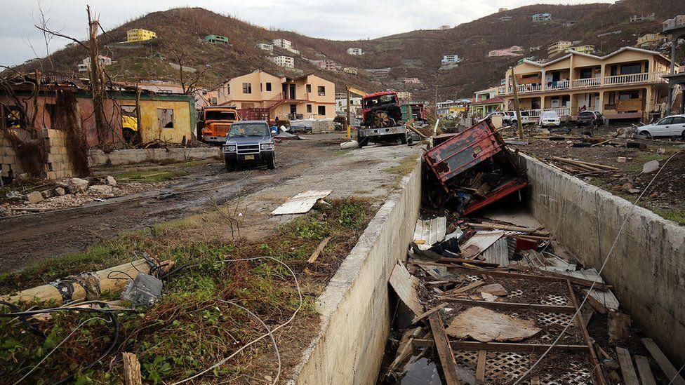 Debris on British Virgin Islands