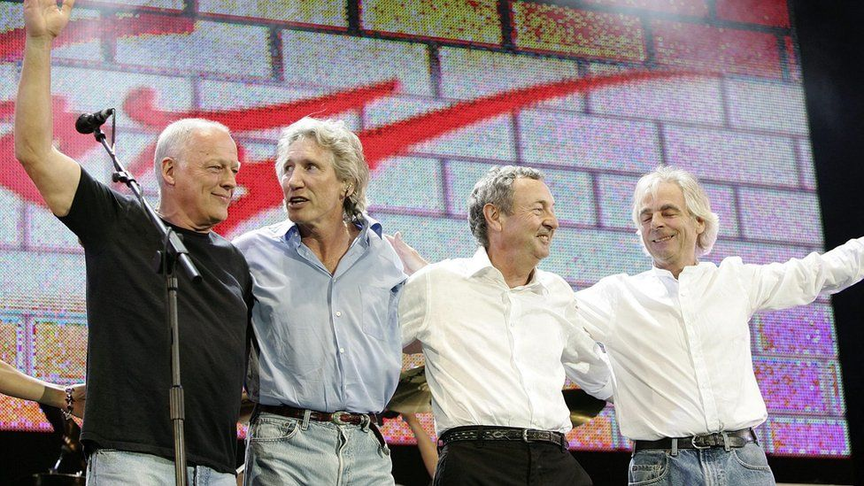 Pink Floyd on stage in 2005