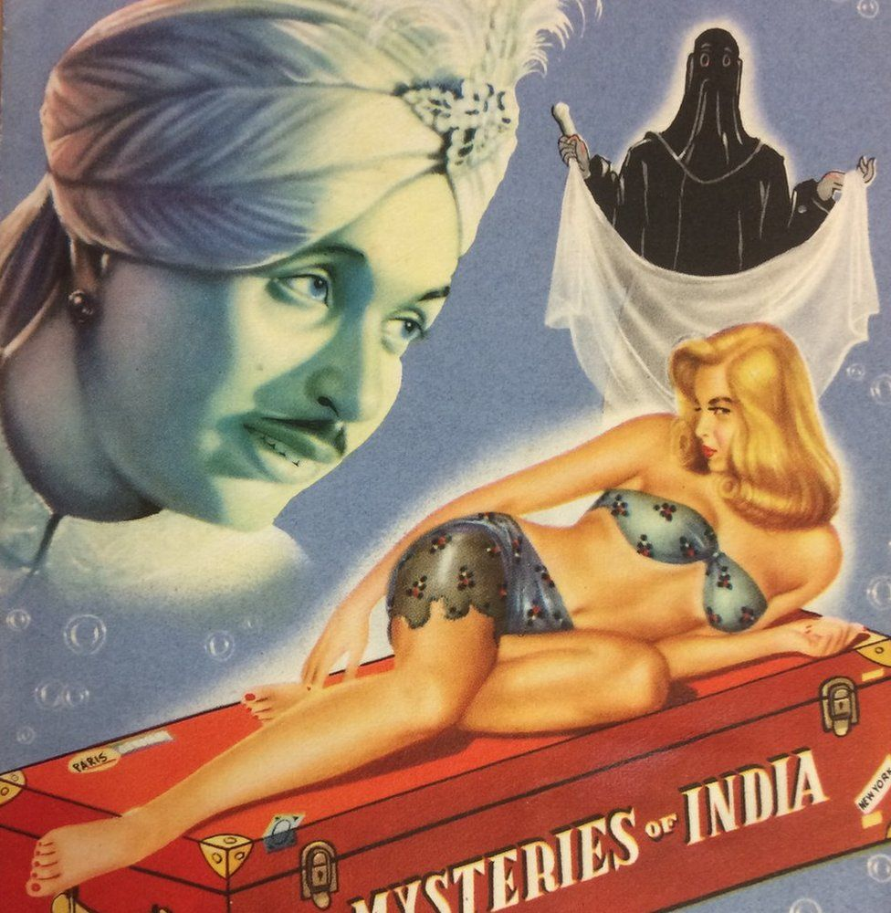 PC Sorcar poster for his Mysteries of India show, c. 1952