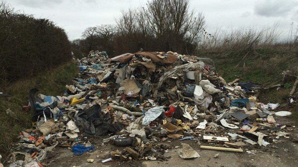 Rubbish on road