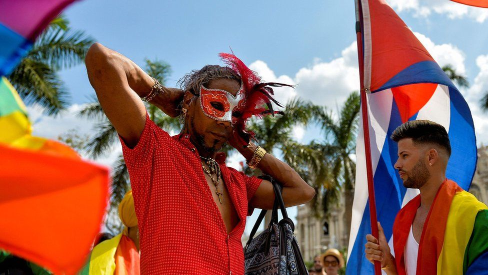 More than a hundred people participated in an unauthorised demonstration for LGBT rights in Havana on Saturday, 11 May 2019