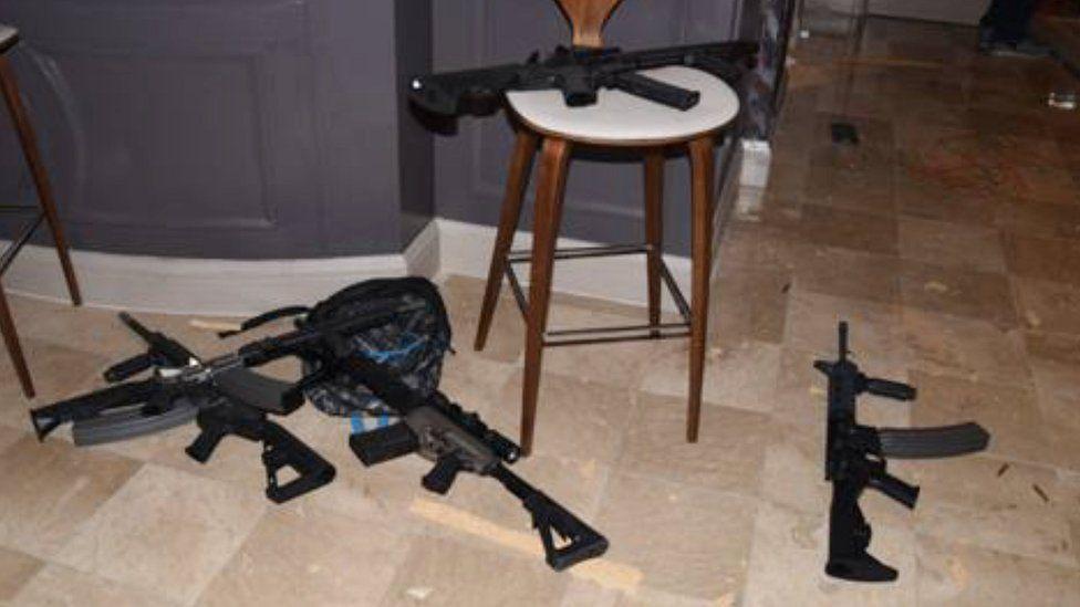Guns found in room at Mandalay Bay hotel