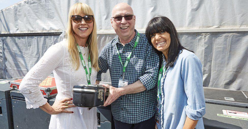 Sara Cox, Ken Bruce and Claudia Winkleman