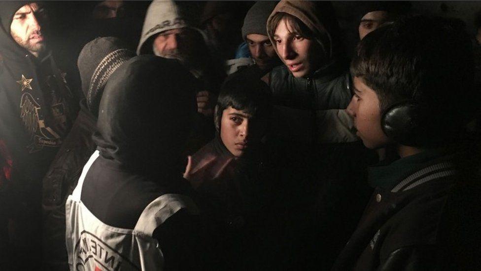 ICRC head of Syria delegation Marianne Gasser in Madaya (11 January 2016)
