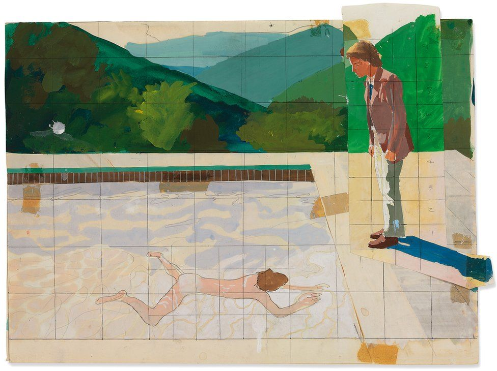 David Hockney's Study for Portrait of an Artist, 1972