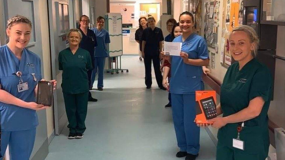 Staff at the University Hospital of Wales in Cardiff were very pleased with the donations
