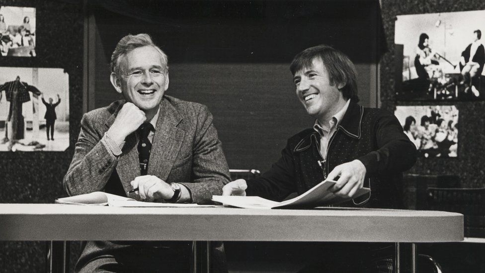 Norris McWhirter and Roy Castle