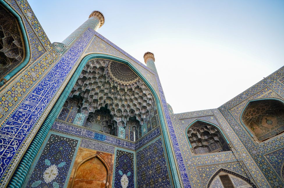 Tiled Architecture of Imam Mosque, Isfahan