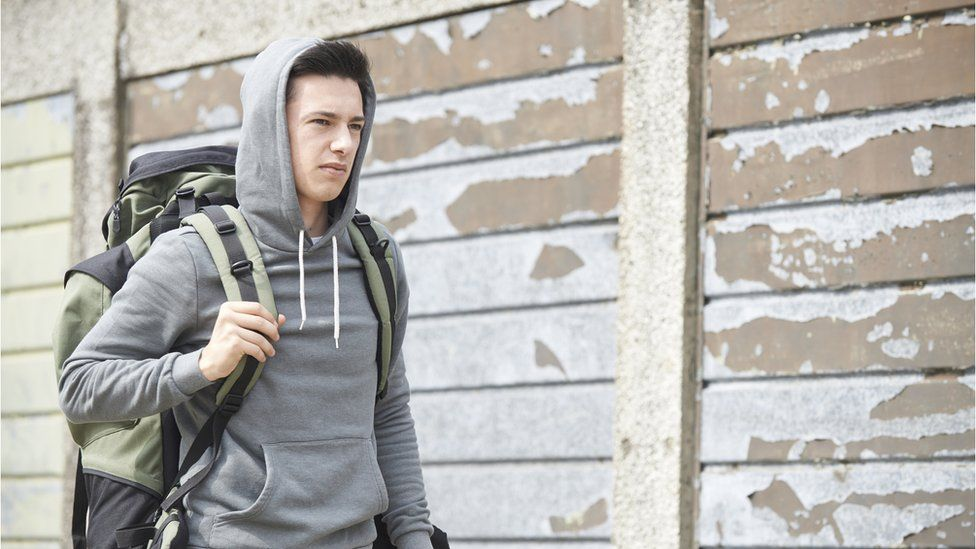 Young man with rucksack