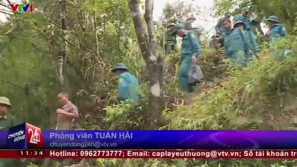 Search party on Fansipan mountain