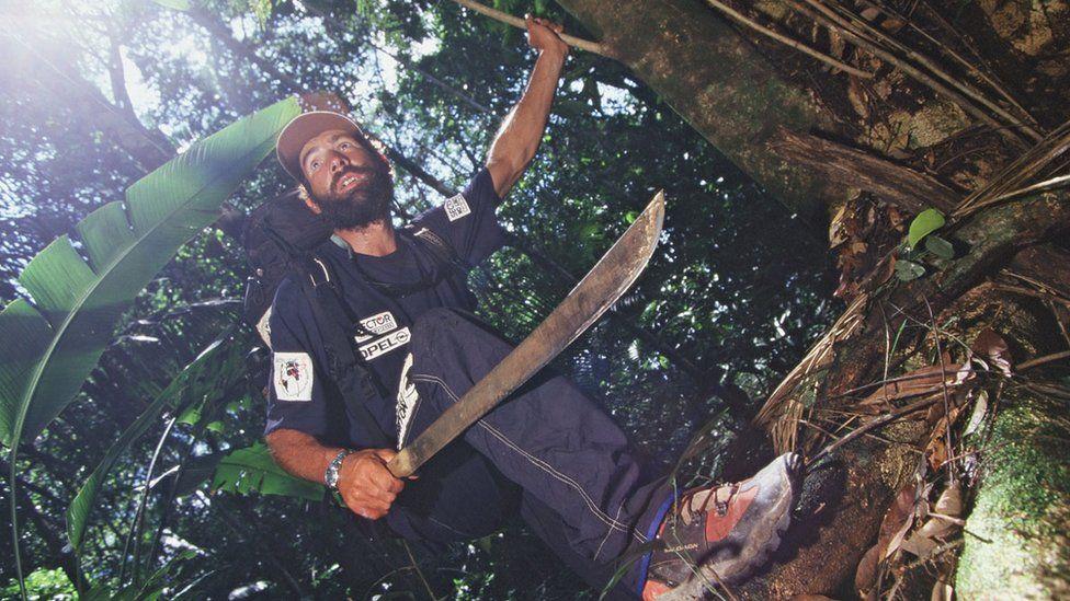 Mike in a jungle