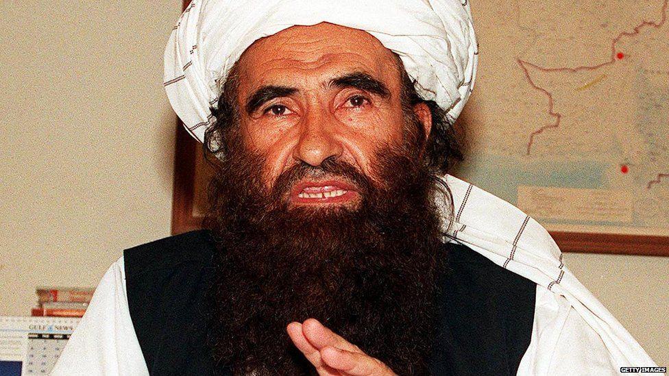 Jalaluddin Haqqani speaks during interview in 2001