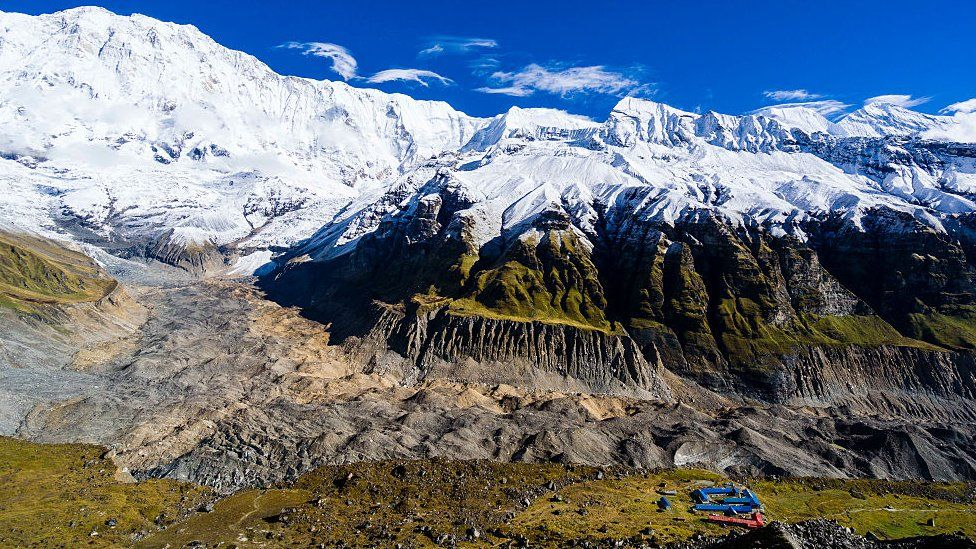 Annapurna base camp in western Nepal