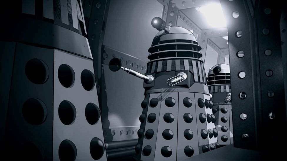 A scene from The Power of the Daleks