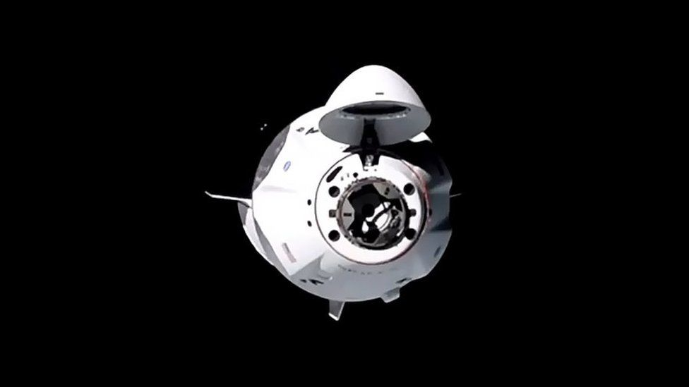 SpaceX Crew Dragon Resilience about to dock on the ISS in November
