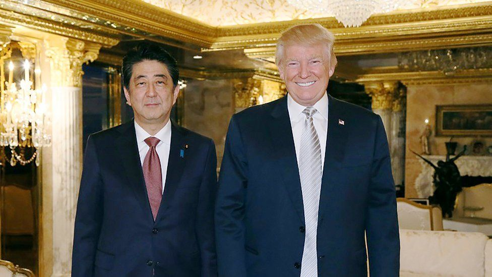 Shinzo Abe and Donald Trump