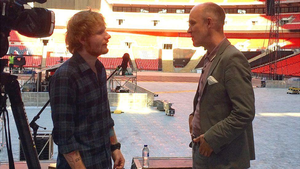 Ed Sheeran speaks to Colin Paterson