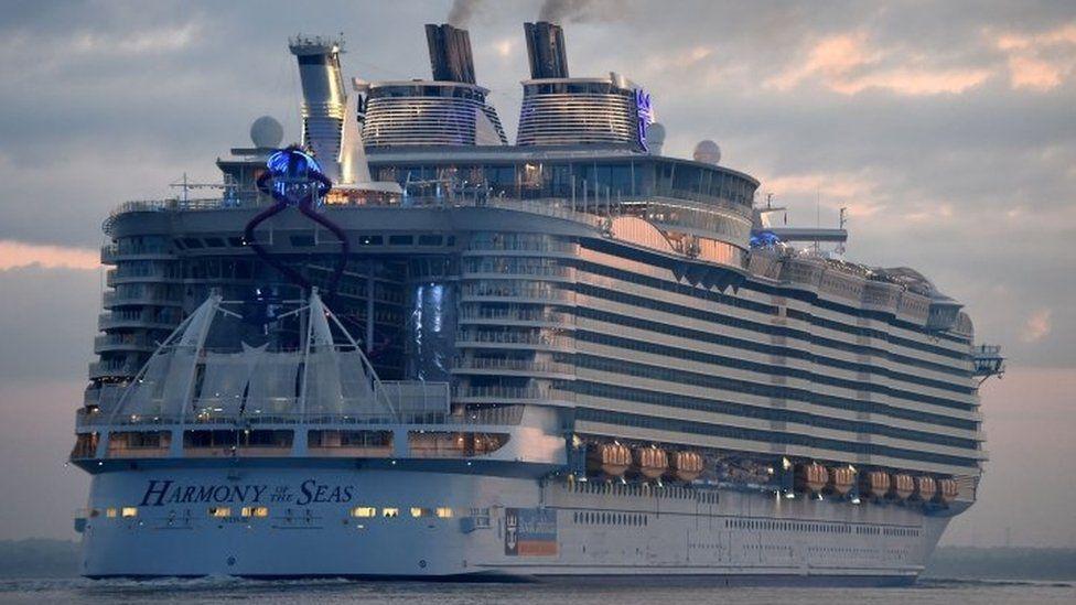 Harmony of the Seas cruise ship at sea