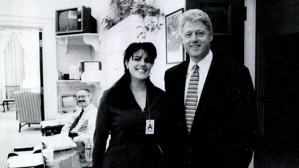 Monica Lewinsky and Bill Clinton