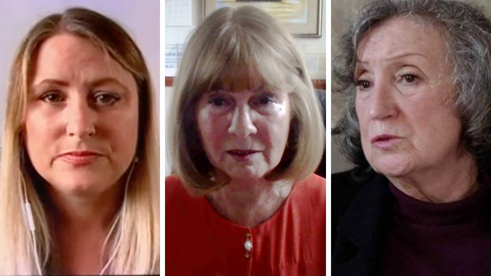 Composite of three women affected