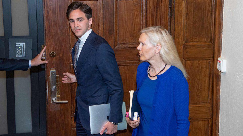Ex-Swedish ambassador to China Anna Lindstedt arrives at the district court in Stockholm on June 5, 2020,