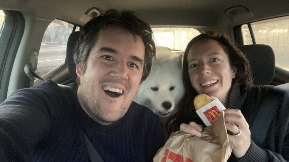 Christopher Bishop with McDonalds