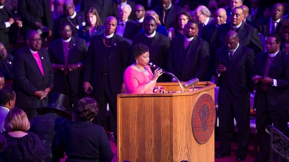 King's daughter spoke at a sermon to mark his death in Memphis 50 years ago
