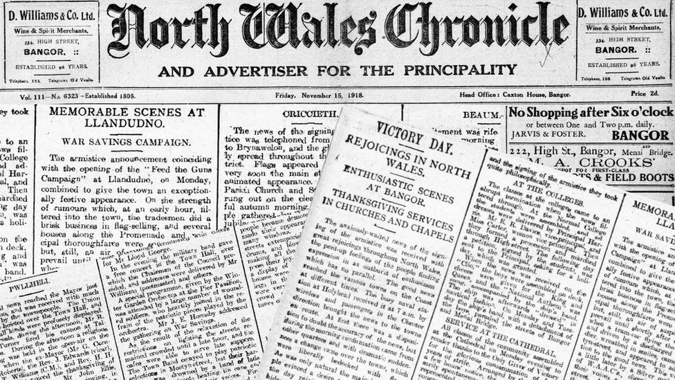 North Wales Chronicle marks Armistice Day