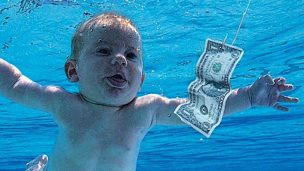 The artwork for Nirvana's Nevermind