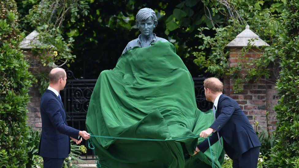 Prince William and Prince Harry Reunite at their Mother's Statue Unveiling Ceremony